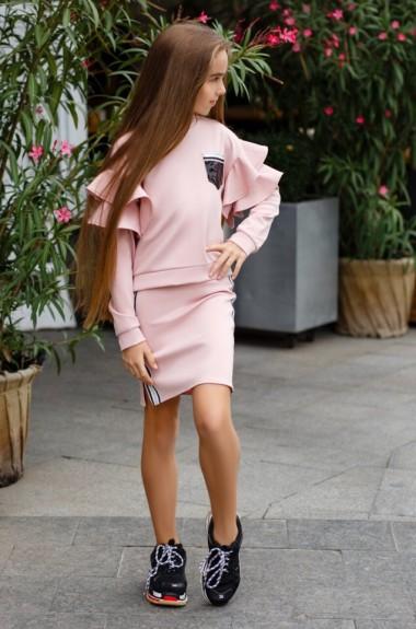 Костюм юбка юбка и свитшот KL-393