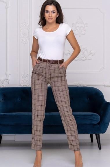 Модные брюки в клетку ALL-2119A16