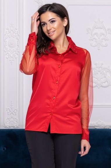 Блузка с прозрачными рукавами ALL-2126A15
