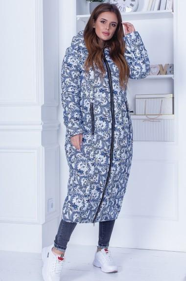 Женское пальто с принтом RO-2292A28