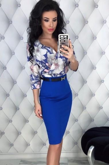Комплект юбка и блузка EFR-386