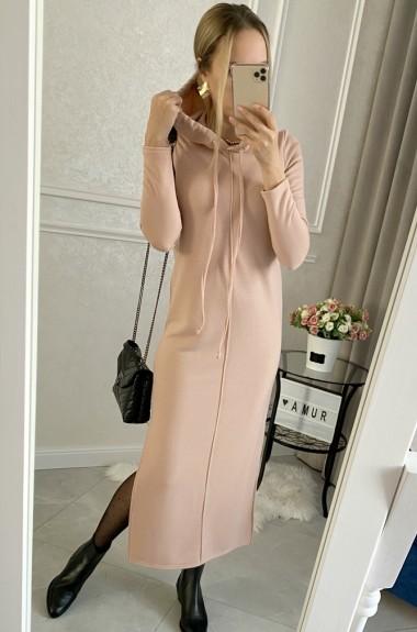 Женское платье с капюшоном AMU-538A300B320