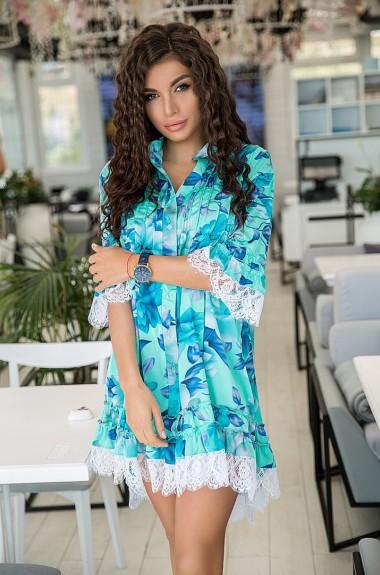 Короткое платье с принтом KV-N799