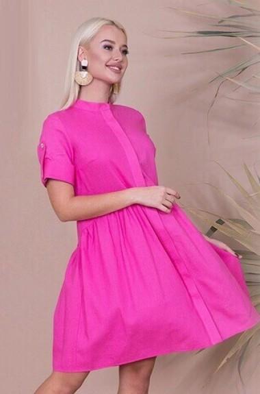 Простое льняное платье ANK-16490