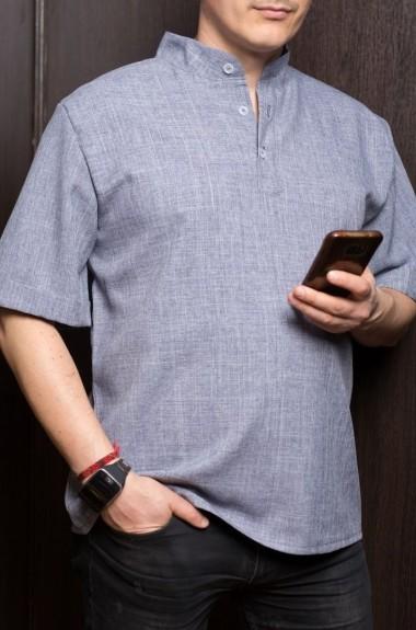 Льняная рубашка мужская с коротким OP-3022A200