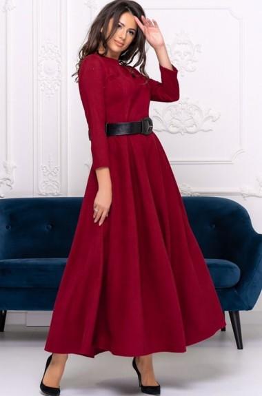 Вельветовое длинное платье ALL-3047A24