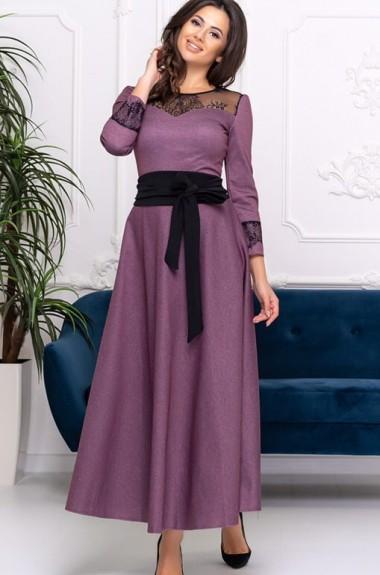 Платье с кружевной кокеткой ALL-3034A22