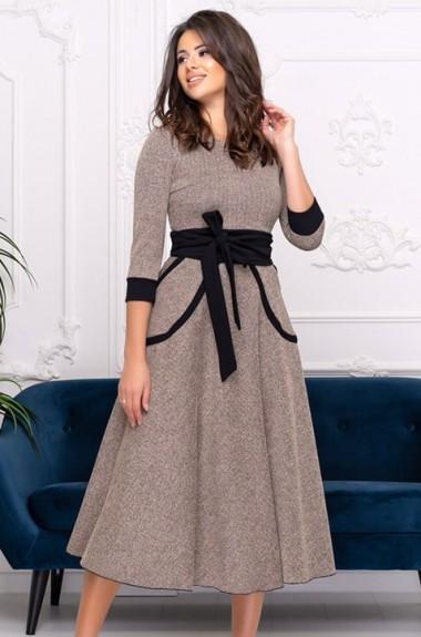 Платье из шерстяной ткани ALL-3038A21