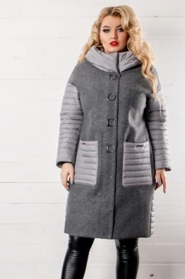 Модное шерстяное пальто VA-471