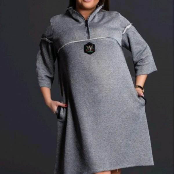 Трикотажное платье трапеция NDV-3111
