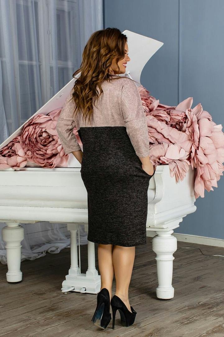 Элегантное ангоровое платье SMO-1135