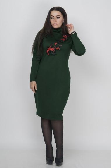 Красивое женское платье с рукавом MAL-36
