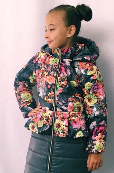 Модное пальто для девочки MMS-680A400