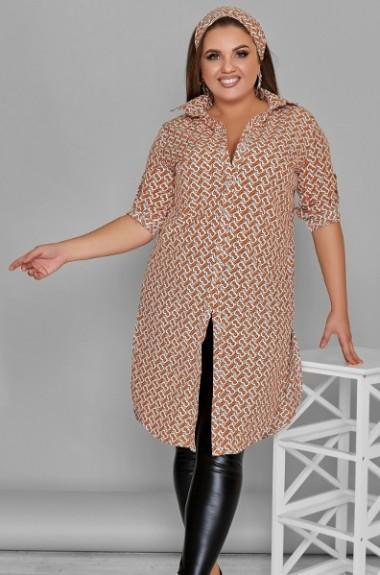 Стильная удлиненная рубашка AJ-17118A340