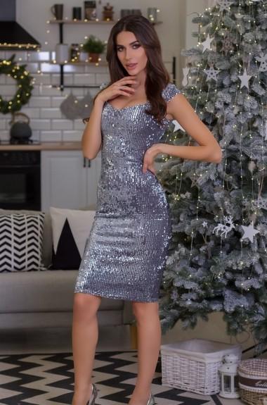 Вечернее платье с пайетками TO-777A16