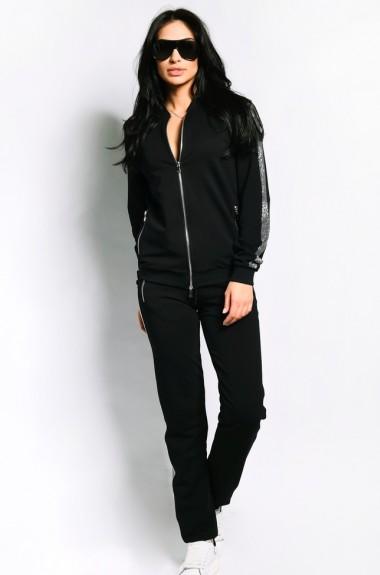 Модный черный спортивный костюм VCL-1003202A25