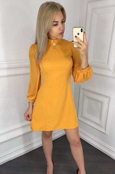 Приталенное платье с рукавами KO-061A12