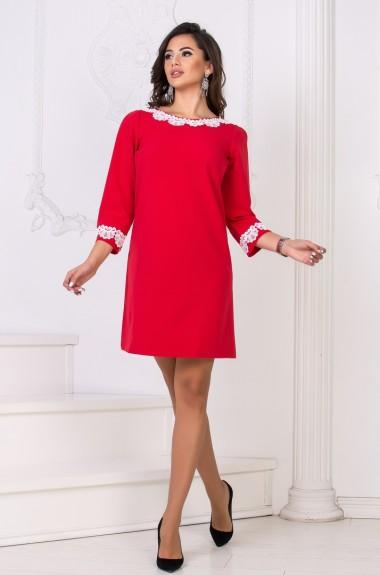 Платье с кружевной отделкой DG-d41111