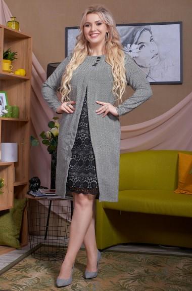 Платье со вставками из кружева TBY-141A410