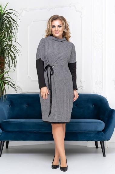 Комбинированное платье для полных дам SC-3028A300