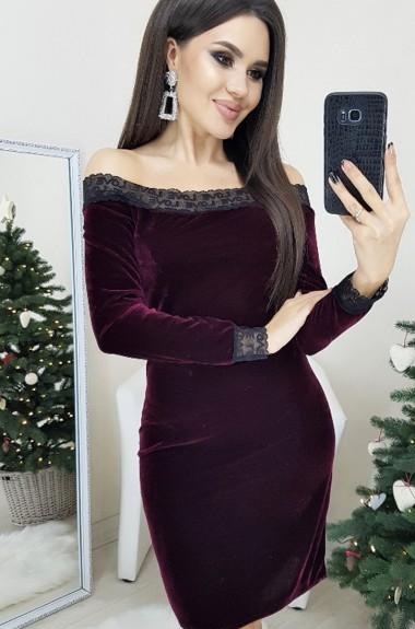 Облегающее платье с открытыми плечами SC-3027A220