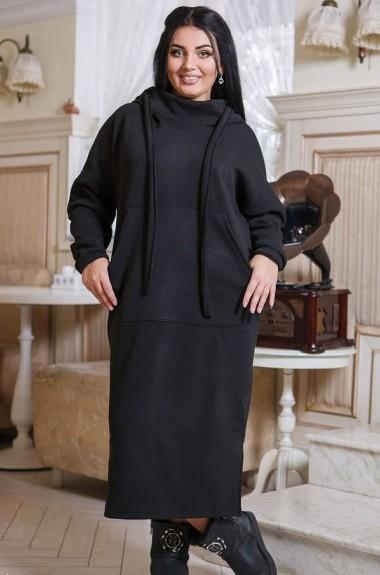 Теплое трикотажное платье DG-p15271A300