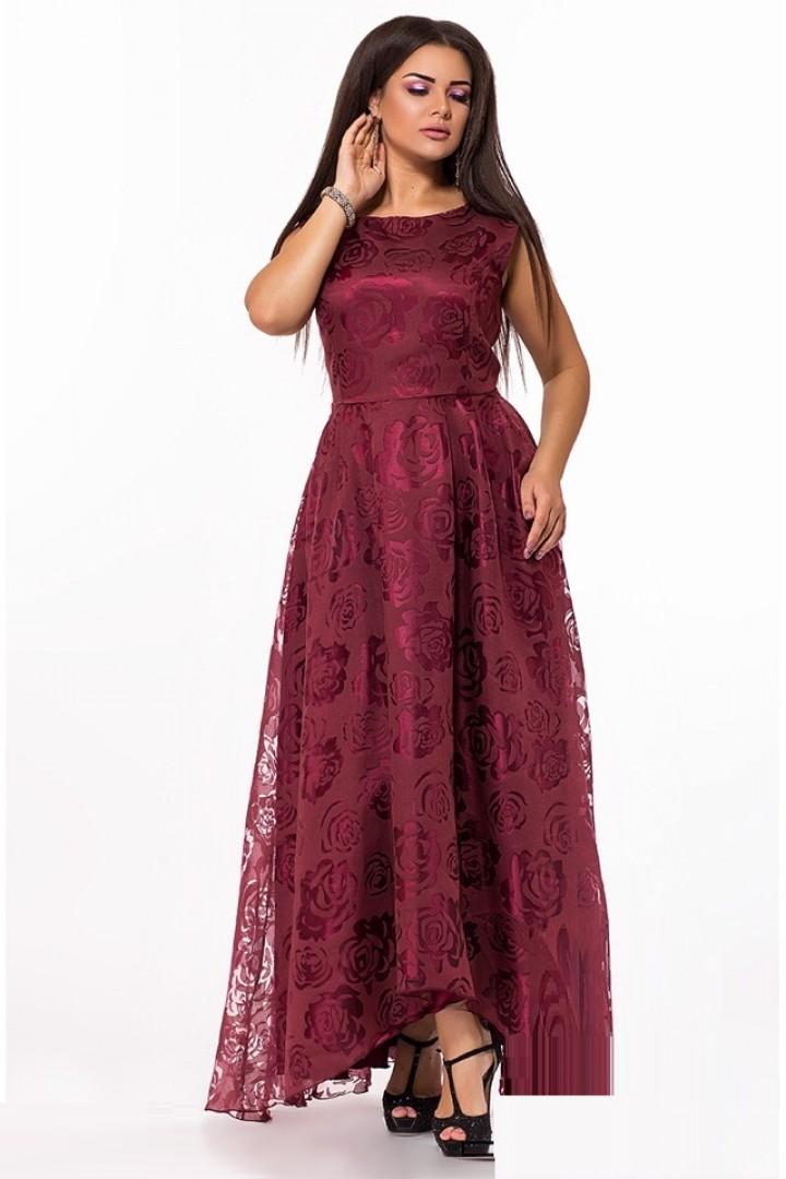 Вечернее платье с цветочным принтом AS-316