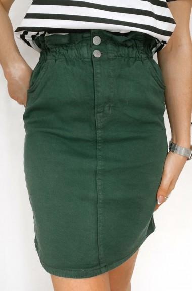 Джинсовая юбка на резинке TD-107A300