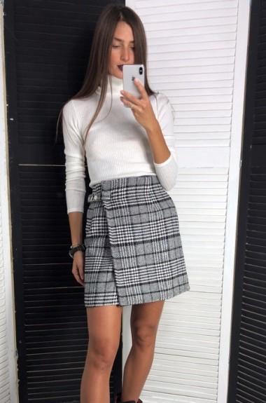 Короткая юбка с запахом LDD-125A450
