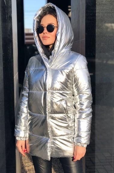 Куртка серебристая женская EP-5051A435