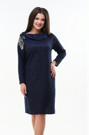 Женское платье с отложным воротником AG-101218