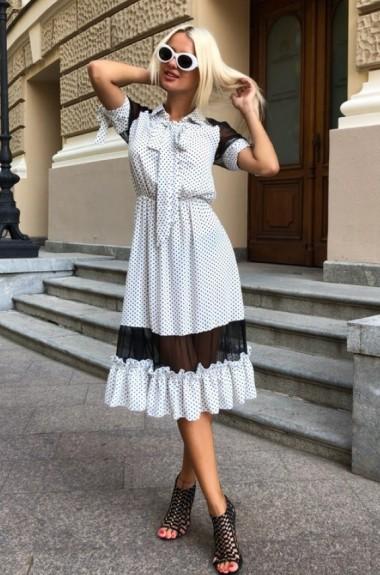 Платье в мелкий горошек ODS-328