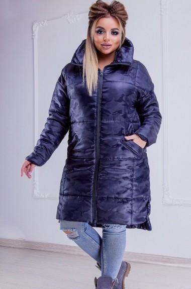 1ade38b2b2b Теплая удлиненная женская куртка KR-400