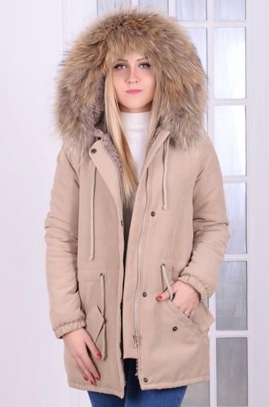 Куртка парка с натуральным мехом VM-9247