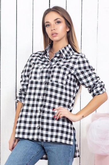 7fa517e16f4 Женская рубашка в клетку с рукавом SLD-459.460