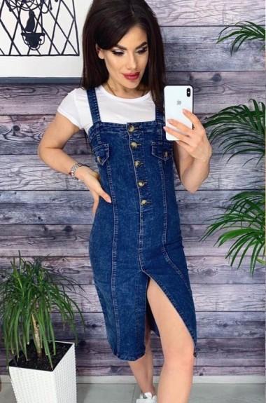 37ff5528113 Джинсовый сарафан женский купить по фото в магазине. Модели 2019 ...