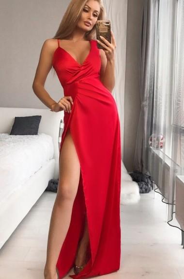 Шикарное атласное платье OG-221A600