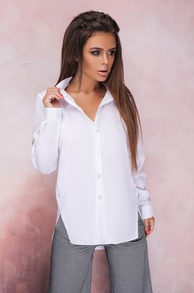 Модная белая рубашка женская VW-1133A8.3