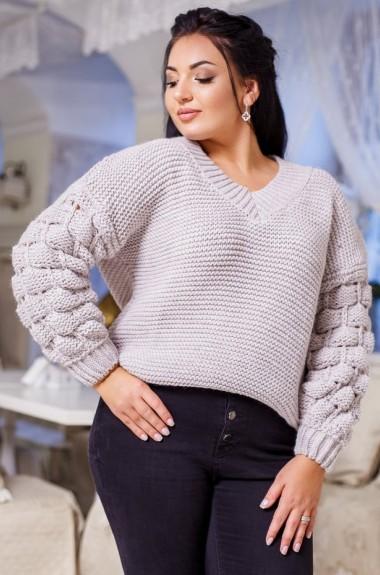 Пуловер с ажурными рукавами DG-p7070A350