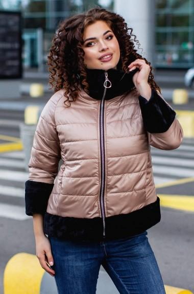 Куртка комбинированная с мехом VCH-559A23