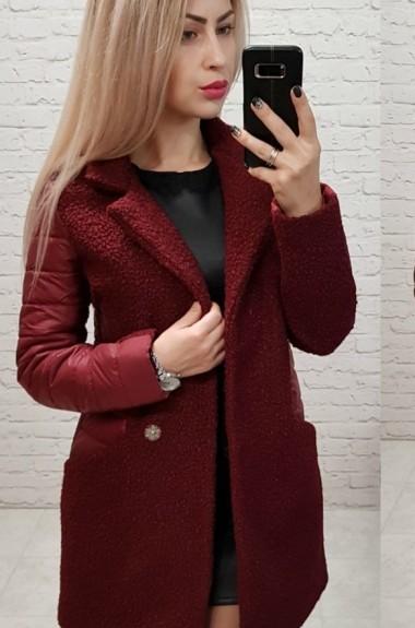 Пальто с вставками женское MUN-821