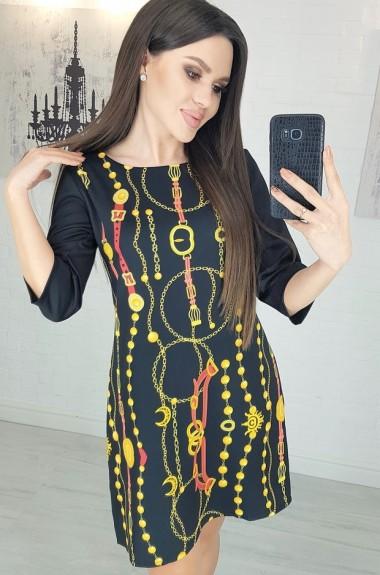 Короткое свободное платье LB-1150A10.5