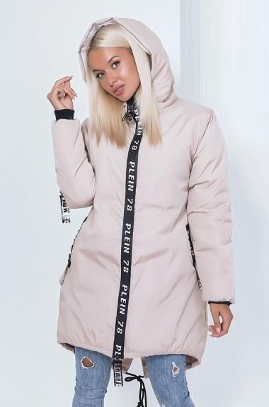 Куртка с нашивками женская EKP-1369