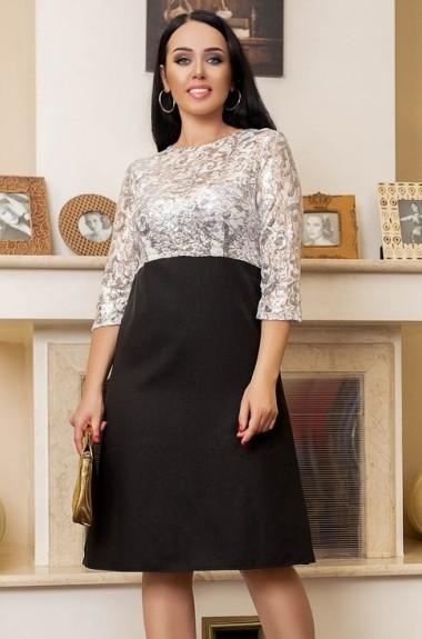 Платье с кружевным верхом NJ-6376A110