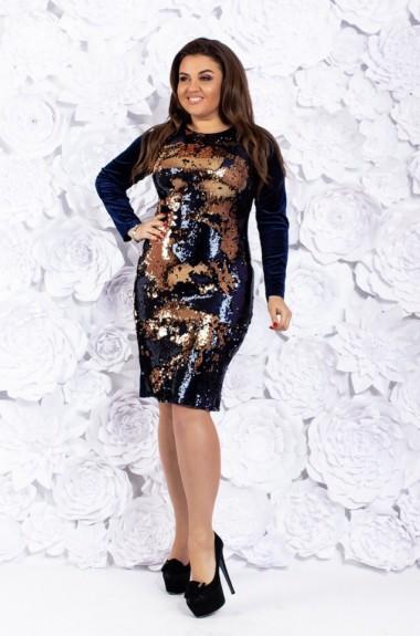 Бархатное нарядное платье AO-18571