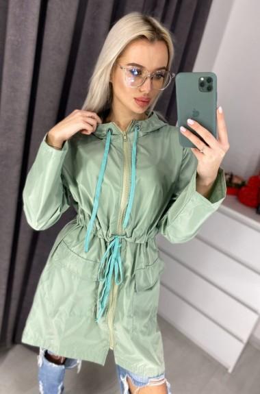 Женская ветровка с капюшоном VEN-0198A14B15