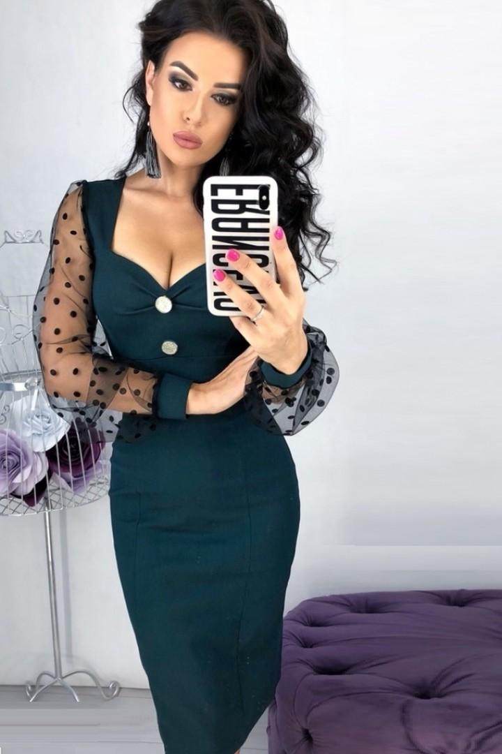 Платье с вырезом декольте EFR-307