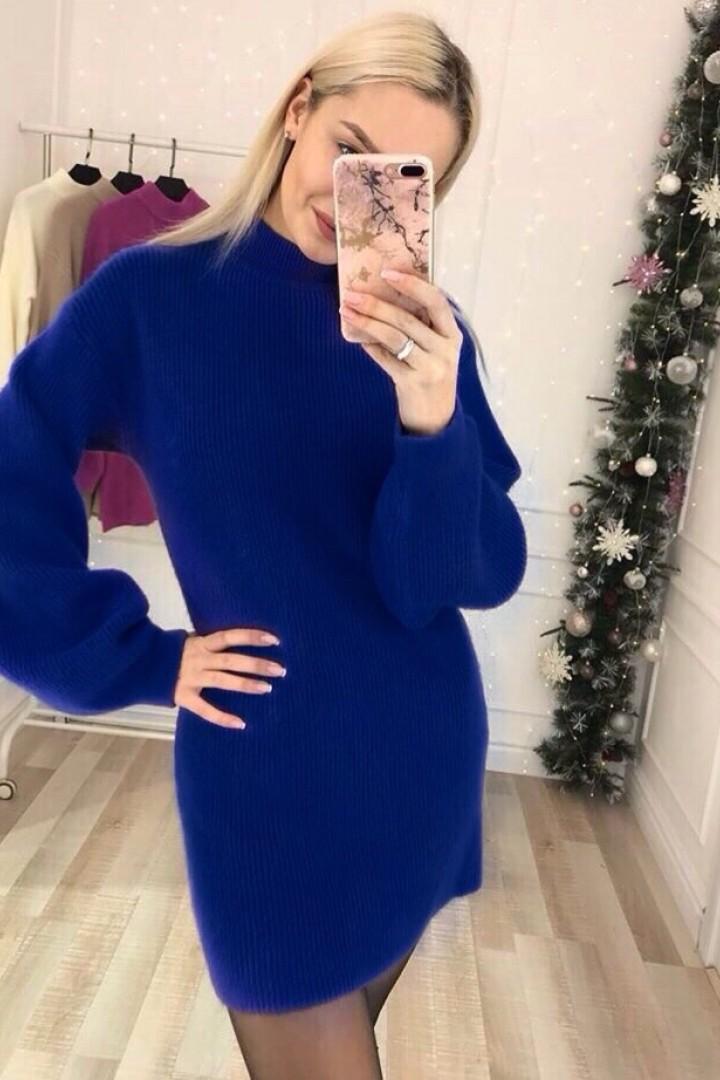 Короткое вязаное платье KL-429