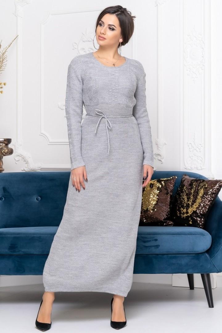 Вязанное длинное платье DG-c33A350