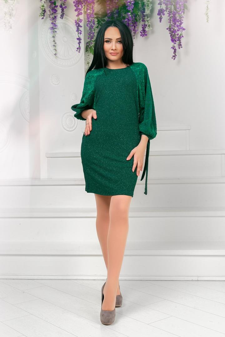 Короткое платье с широкими рукавами KV-751